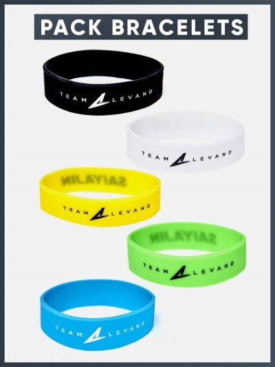 Pack 5 bracelets Team Levand - Saiyajin