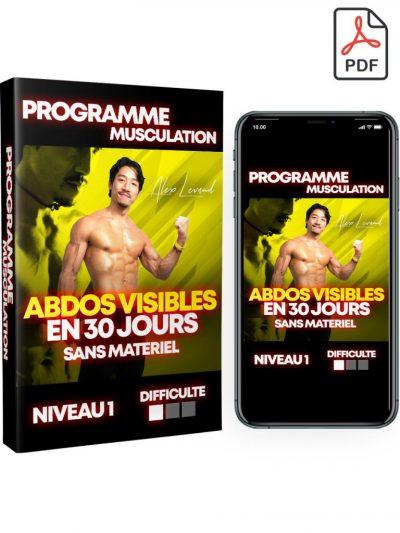 Programme musculation ABDOS VISIBLES EN 30 JOURS sans matériel - Niveau 1